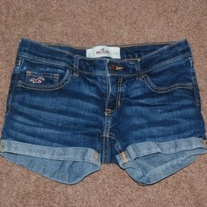 Hollister Medium Wash Jean Shorts-Size 0